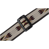 "Levy's MSSN80-TAN 2"" Wide Tan Polypropylene Guitar Strap With Aztec Design"