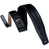 Levy's DM1PD-BLK Genuine Leather Guitar Strap