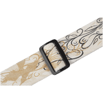 "Levy's MSSC8U-002 2"" Wide Natural Cotton Guitar Strap With Bird Design"