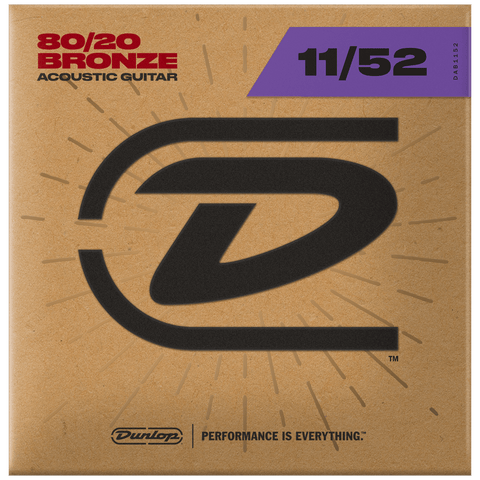 Dunlop Acoustic 80/20 Guitar Strings 11-52, DAB1152