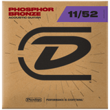 Dunlop Acoustic Phosphor Bronze Guitar Strings 11-52, DAP1152