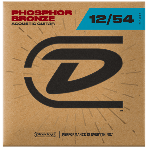 Dunlop Acoustic Phosphor Bronze Guitar Strings 12-54, DAP1254
