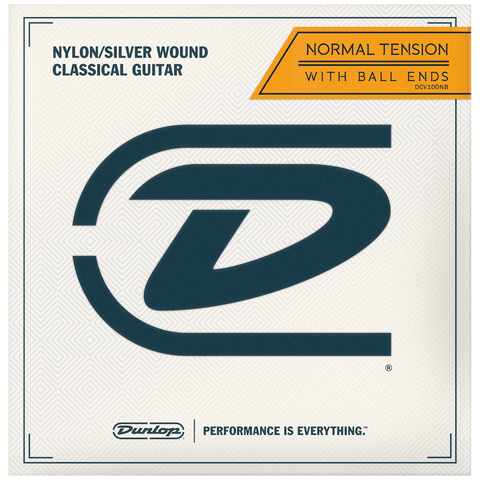 Dunlop Classical Acoustic Guitar Strings, Ball End, DCV100NB