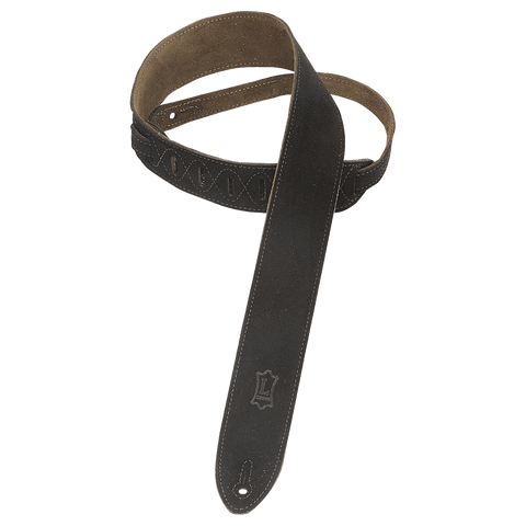 "Levy's MS12-BLK 2"" Hand-Brushed Suede Guitar Strap"