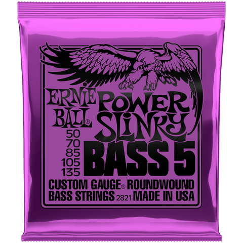 Ernie Ball Power Slinky Nickel 5-String Bass 2821 .050-.135