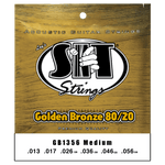 SIT Strings GB1356 Medium Golden Bronze 80/20 Acoustic .013-.056