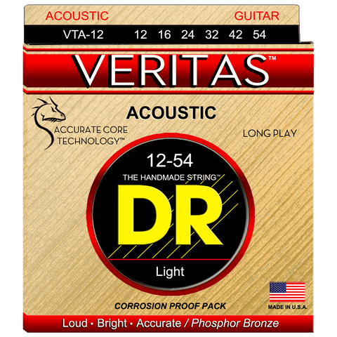 DR Strings VTA-12 Veritas Phosphor Bronze Light Acoustic 12-53