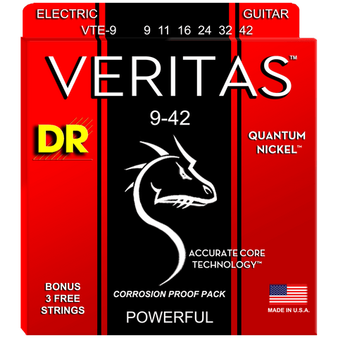 DR Strings VTE-9 Veritas Quantum Nickel Electric Light 9-42