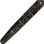 D'Addario Leather Strings and Studs Guitar Strap – L25S1502