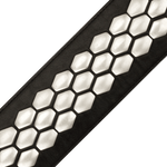 D'Addario Hex Studded Leather Guitar Strap – L25S1503