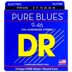 DR Strings PHR-9/46 PURE BLUES™ Pure Nickel Electric Light-Heavy 9-46