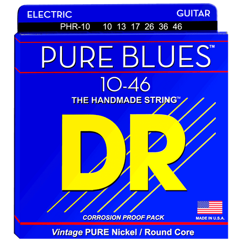 DR Strings PHR-10 PURE BLUES™ Pure Nickel Electric Medium 10-46