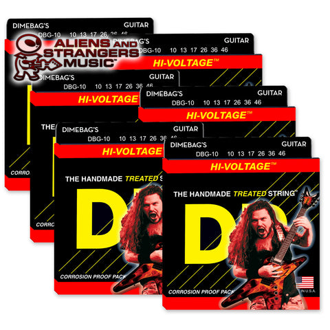 6 Sets! DR Strings DBG-10 Dimebag Darrell Hi-Voltage Medium 10-46