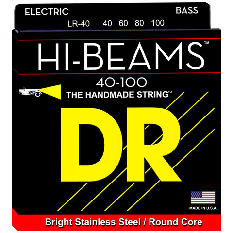 DR Strings Hi-Beam LR-40 Light Bass Stainless 40-100