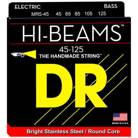 DR Strings Hi-Beam MR5-45 Medium 5-String Stainless 45-125