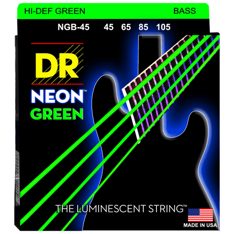 DR Strings NEON Green NGB-45 Medium 4-String 45-105