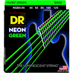 DR Strings NEON Green NGB5-45 Medium 5-String 45-125