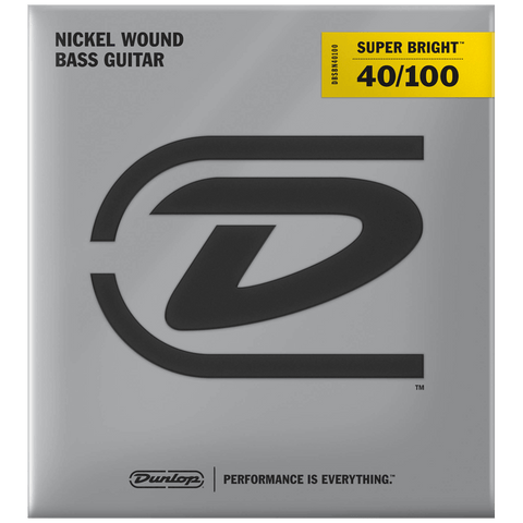 Dunlop Super Bright Nickel Wound Bass Strings 40-100, DBSBN40100