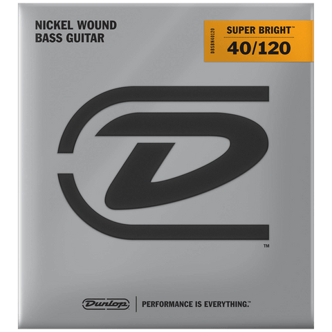 Dunlop Super Bright Nickel Wound 5-String Bass Strings 40-120, DBSBN40120