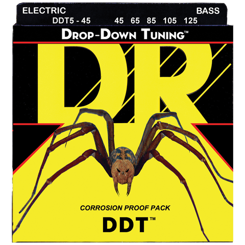 DR Strings DDT5-45 DDT™ Drop Down Tuning 5-String Bass Medium 45-125