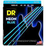 DR Strings NEON Blue NBB-45 Medium 4-String 45-105