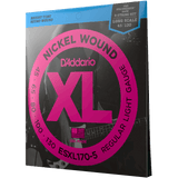 D'Addario EXL170-5 Light, 5-String Nickel Wound Bass Strings, 45-130
