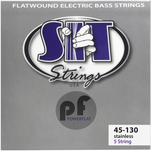 SIT Strings PF545130L Light 5-String Power Flat Flatwound Bass Strings