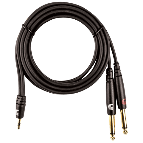 "D'Addario Custom Series 1/8"" to Dual 1/4"" Audio Cables"