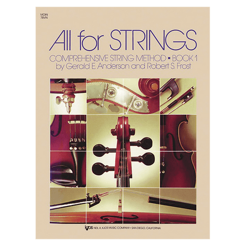 Kjos All For Strings Book 1 - Violin