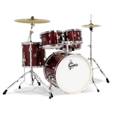 Gretsch Energy 5 Piece Set with 4 Piece Hardware Set – Ruby Sparkle