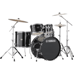 Yamaha Rydeen Acoustic Drum Kit in Black Glitter w/Hardware Pack - RDP2FBLG