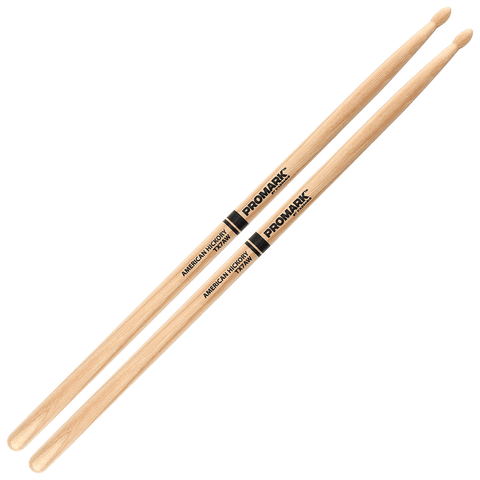 Promark Hickory 7A Wood Tip drumstick – TX7AW