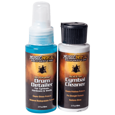 Music Nomad - Cymbal Cleaner and Drum Detailer Combo Pack (2 oz.) MN117