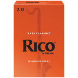 Rico by D'Addario Bass Clarinet Reeds, 10 Pack – REA10