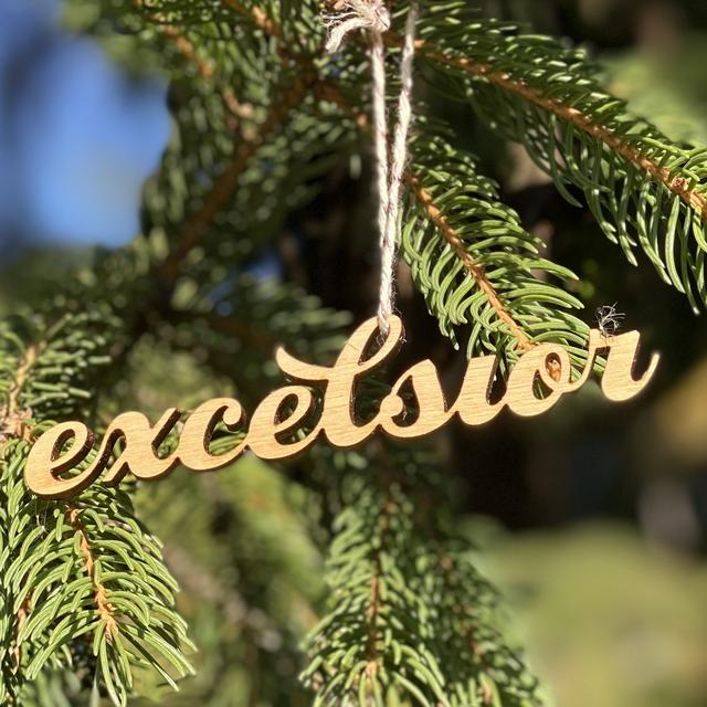 Custom Excelsior Ornament for Golden Rule Gallery