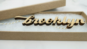 Brooklyn Letter Cutout