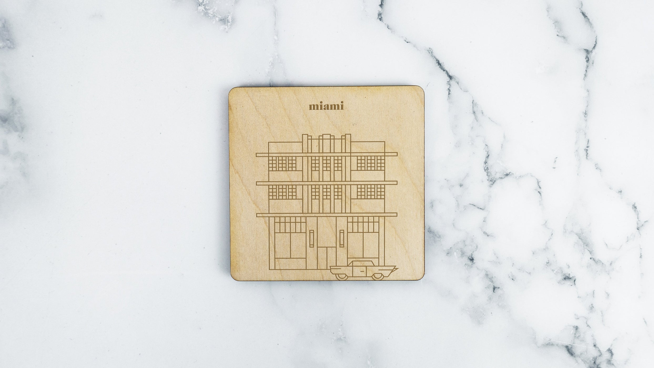Miami, Marlin Hotel Coaster