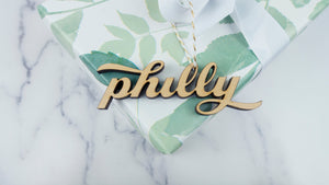 Philly Letter Cutout