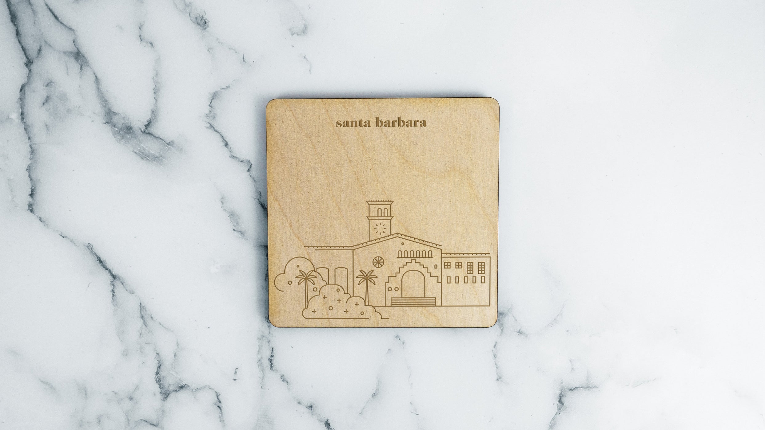 Santa Barbara County Courthouse Coaster