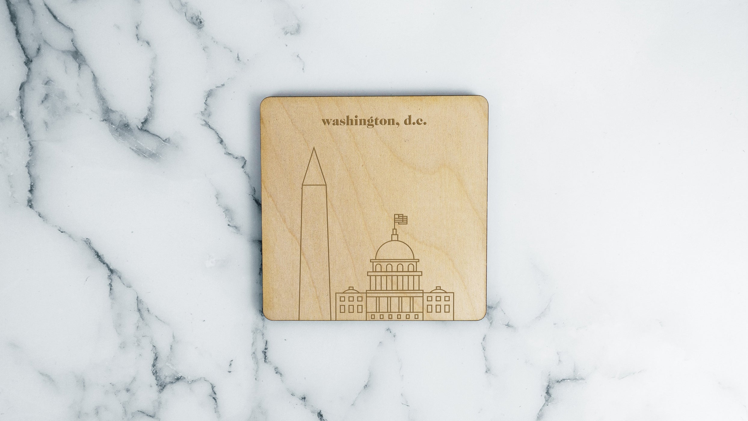 Capitol Building & Washington Monument Coaster