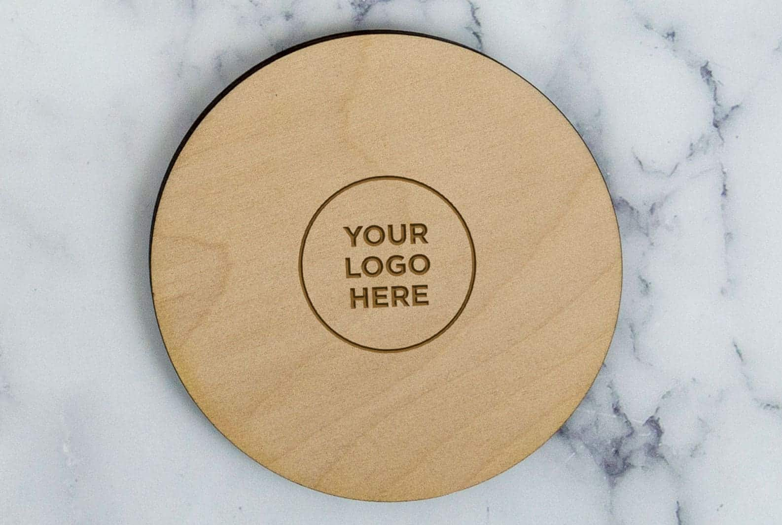 Your logo here coaster