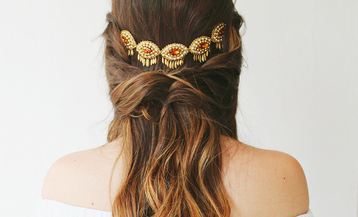 3 Bohemian Hairstyles you can do with Necklace | 3 Peinados Bohemios hechos con un Collar
