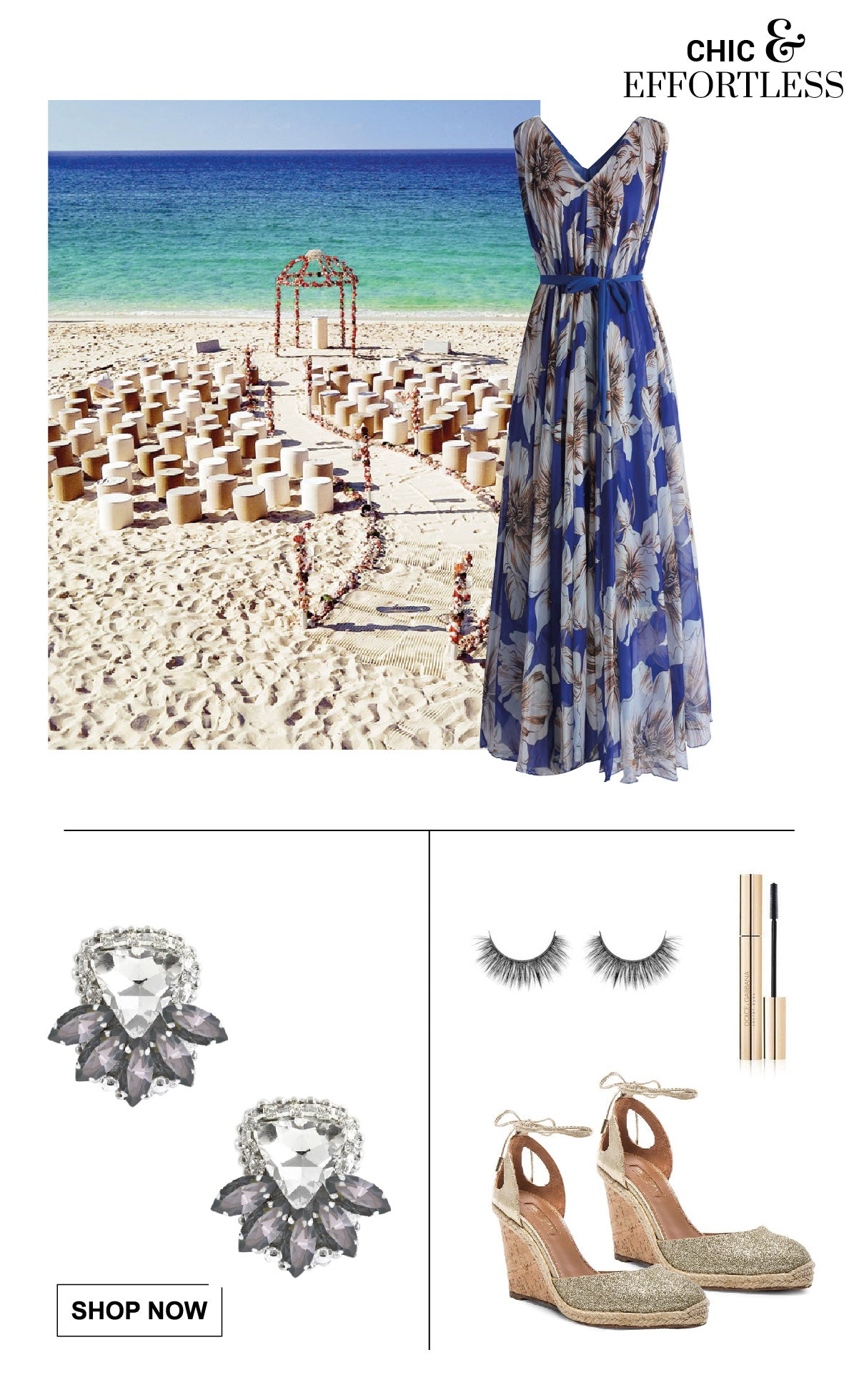 Cool and chic attire for ladies of a wedding on the beach.