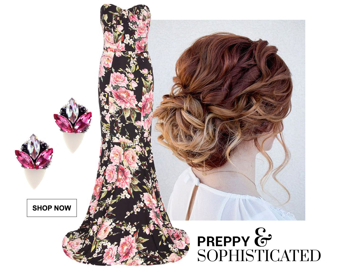 Graduation Looks - 3 Unique Styles - Create a preppy and sophisticated look combining these jewelry pieces with your prom outfit.