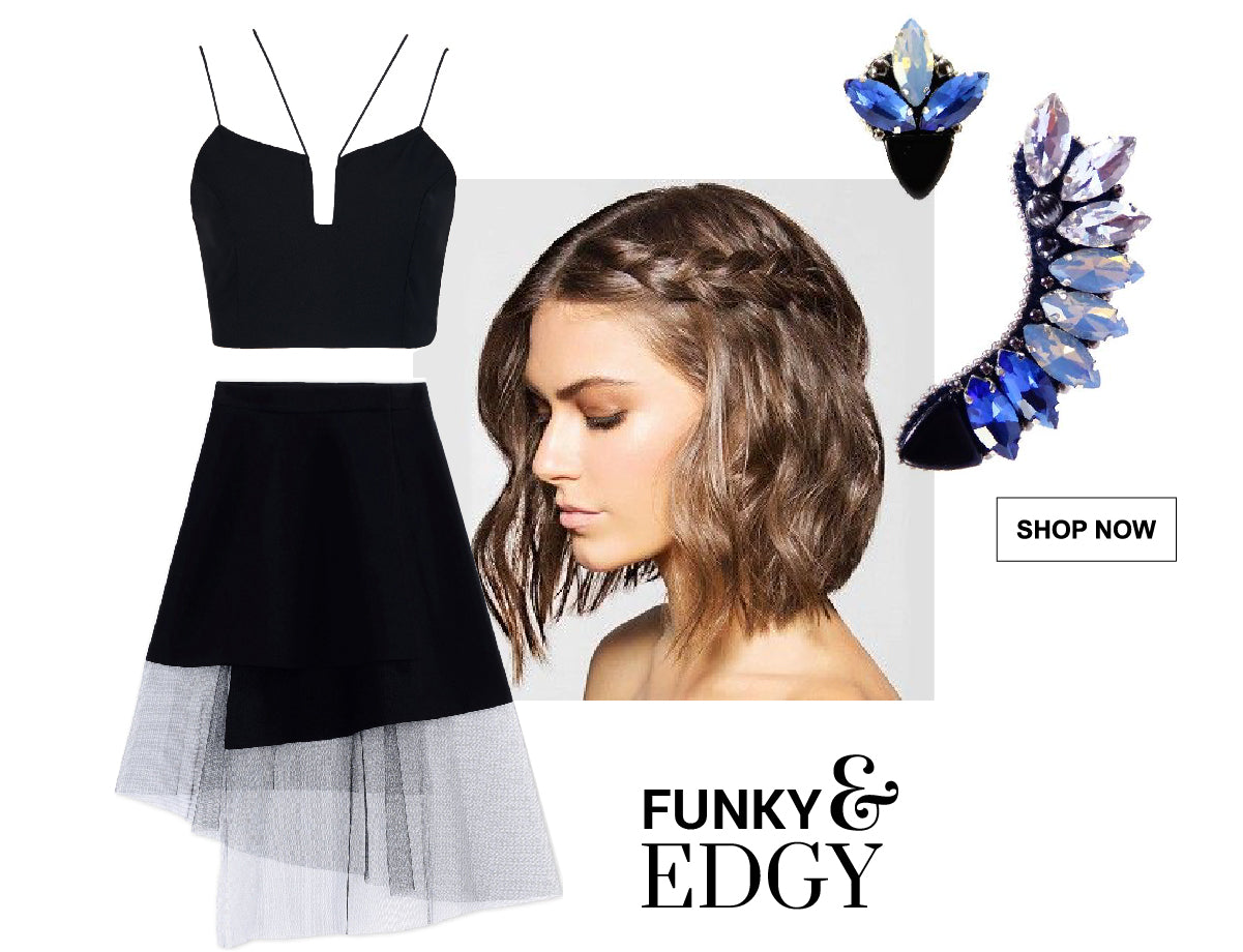Graduation Looks - 3 Unique Styles - Create a funky and edgy look combining these jewelry pieces with your prom outfit