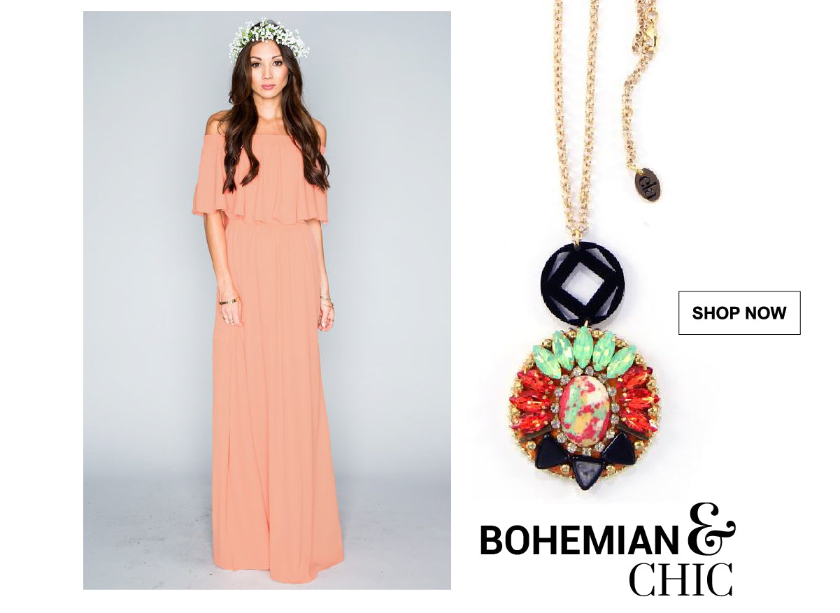 Graduation Looks - 3 Unique Styles - Create a bohemian and chic look combining these jewelry pieces with your prom outfit.