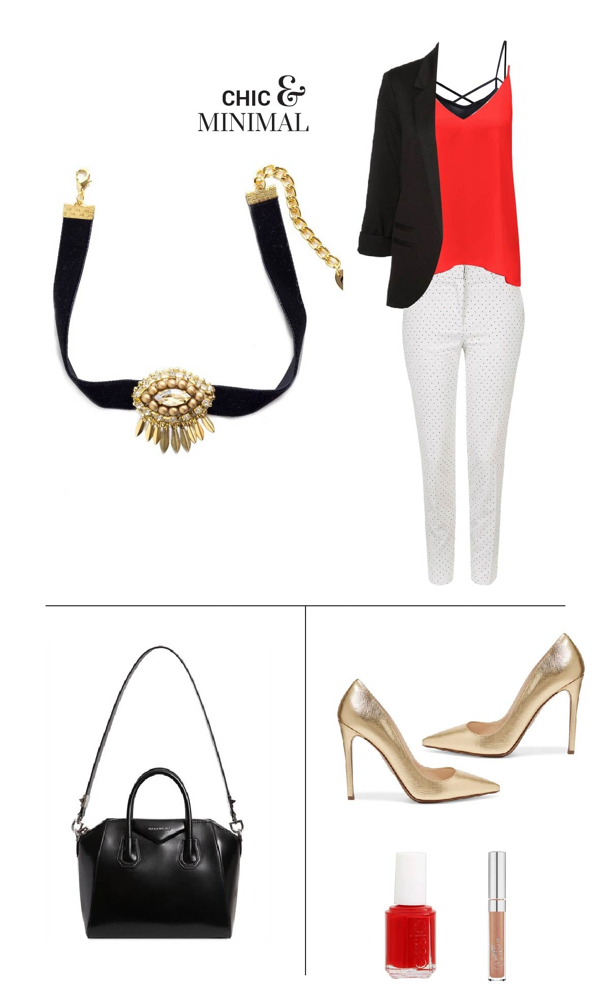 How to style a choker necklace - Combine this choker necklace with your outfit to match your chic and minimal style!