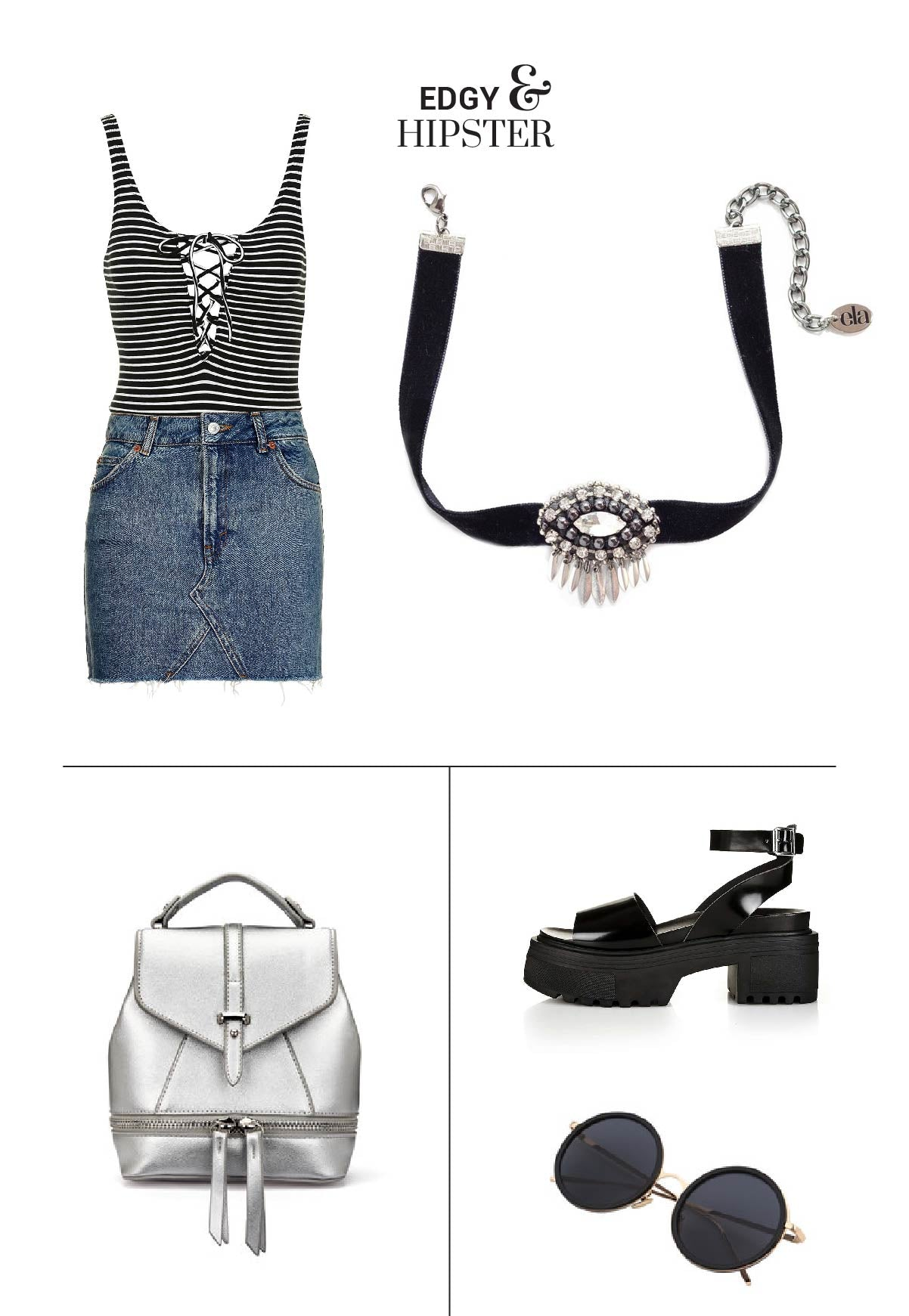 How to style a choker necklace - Combine this choker necklace with your outfit to match your edgy and hipster style!