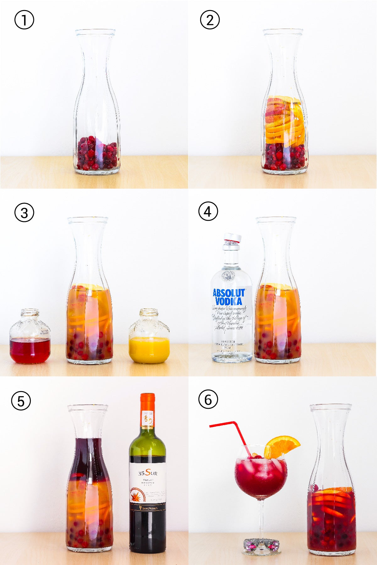Step by step to prepare a delicious autumn sangria.