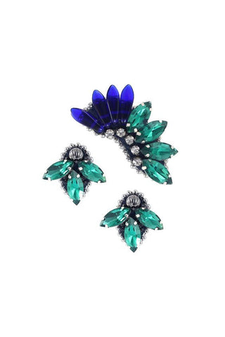 Earcuff Green & Blue